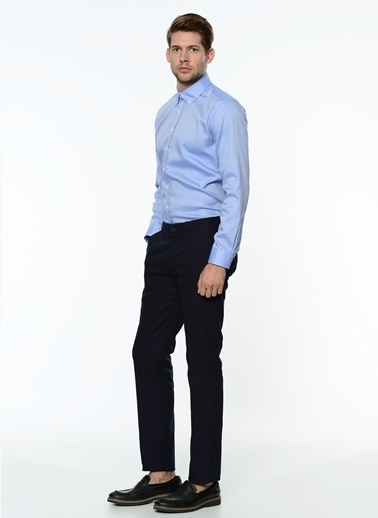 George Hogg Slim Fit Kanvas Pantolon Lacivert